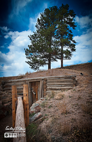 Florissant Fossils Beds - Adeline Hornbek Homestead - Dugout Cellar