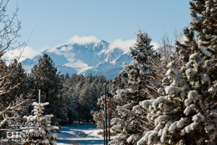 Pikes Peak from Woodland Park, CO