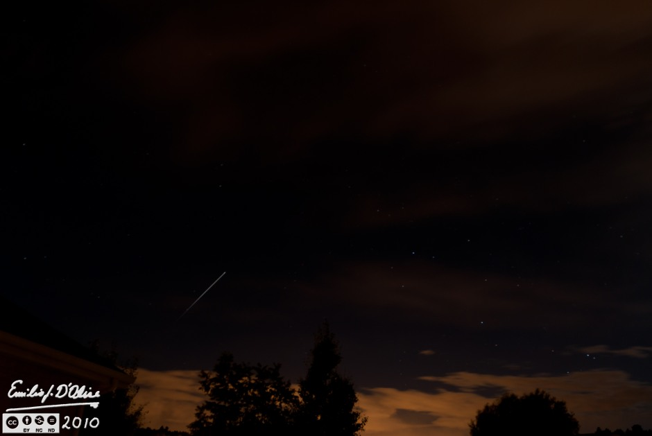 30 sec exposure of the ISS passing overhead