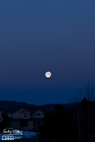 Full moon over the Rampart Range - shot from my driveway