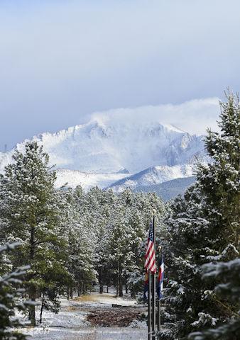 Cloud Shrouded Pikes Peak