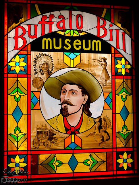 Buffalo Bill Museum Stained Glass Entrance.