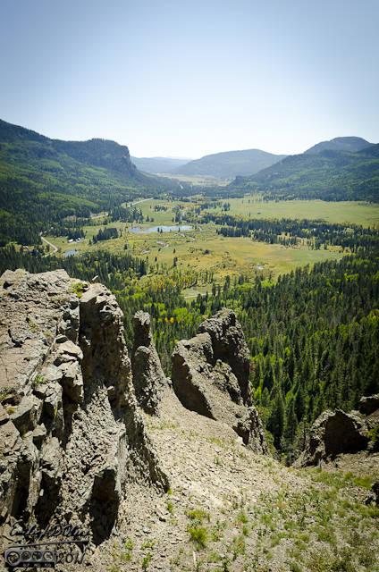 Wolf Creek Pass on US-160 on the way to Durango, Colorado
