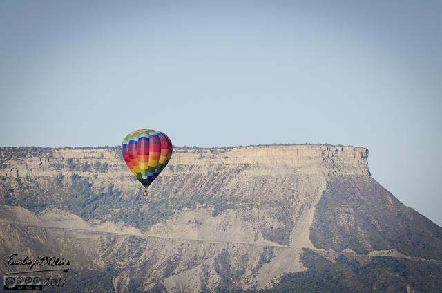 Hot air balloons outside Durango