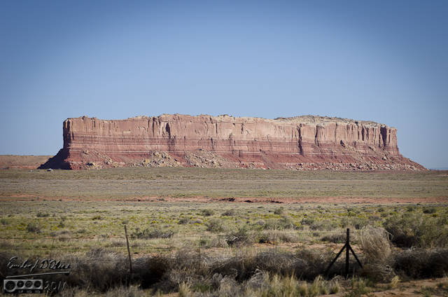 Some sort of red mesa-like structure near Red Mesa, Arizona