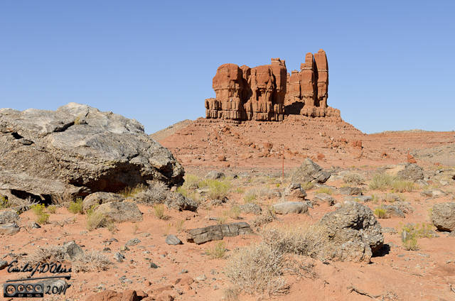 """I call this composition """"Red Rocks with Boulder - No. 753"""""""
