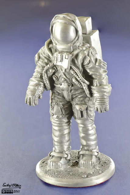 Miniature Astronaut - Macro Photography + Blended Layers