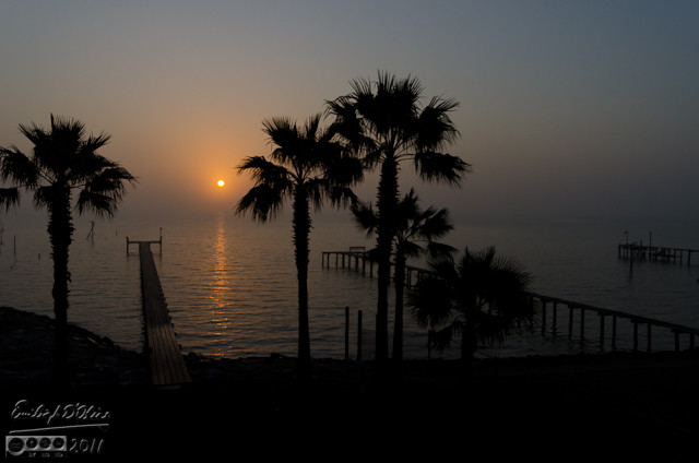 This shot was a close second as my favorite of the year.  This is a foggy sunrise on Galveston Bay.