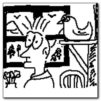 Mind-saving doodle - inside a farmhouse