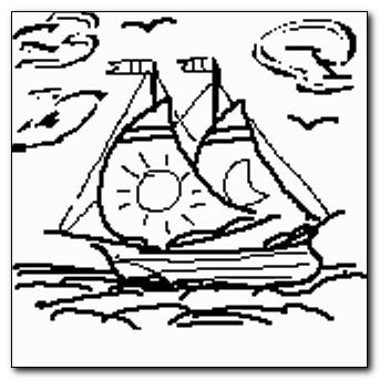 Mind-saving doodle - two-mast ship
