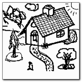 Mind-saving doodle - home is where the house is