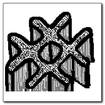 Mind-saving doodle - cast snowflake
