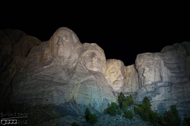 The monument's lighting ceremony