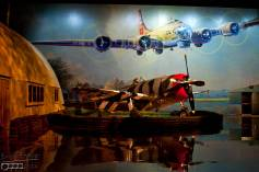 My favorite WWII display - The P47 Thunderbolt and the mural of the B-17 Kalamazoo Gal