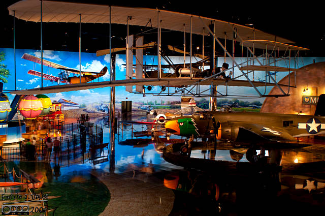 That's a replica of the Wright Flyier, and another overview of the main display hall.