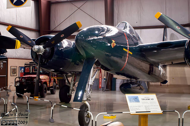 The Grumman Tigercat is another sleek-looking plane.