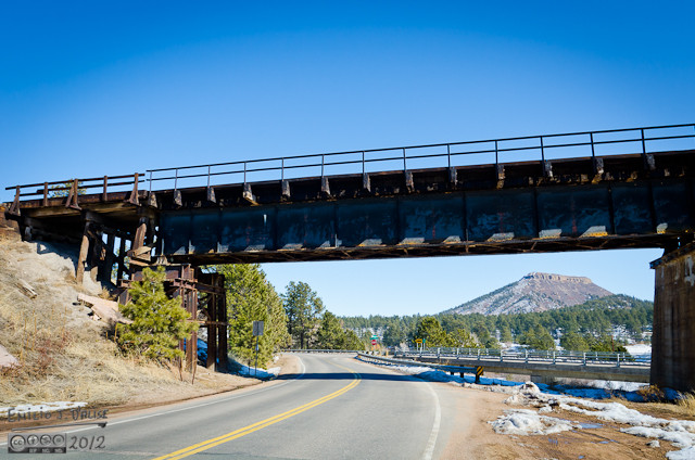 Here is the west-end of the trestle