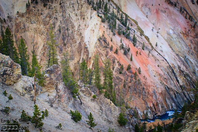 The canyon itself is an amazing setting for various colors to play on the faces of the slopes and rocky outcrops