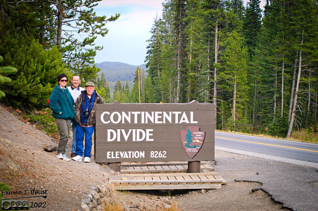 The intrepid travelers crossing the Continental Divide