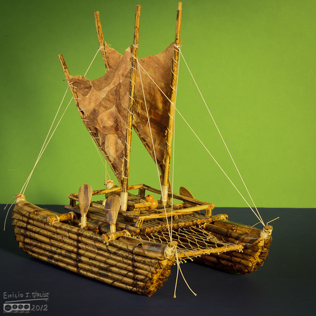 Made from rolled paper, pieces of wood, and a few scrap materials . . .