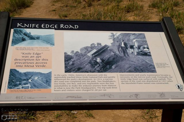 The sign about the road, and a picture from the times