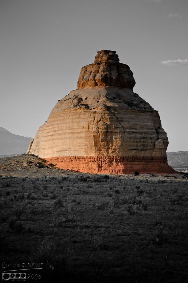 Along US-191, something likely named Bell Rock.  Much better than the one near Sedona, AZ.