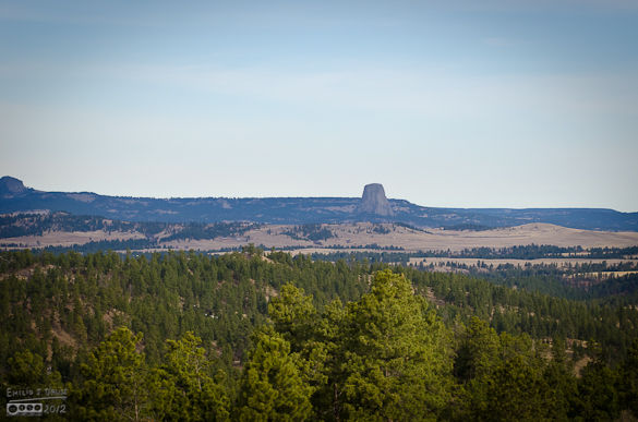 Our first sight of the Devil's Tower