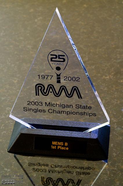 "March 2003 - Michigan State Singles Championship - Men's ""B"" Division"