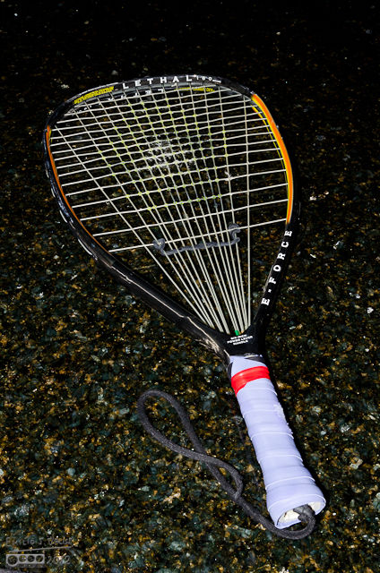 One of my two racquets - the E-Force Lethal (I like the name)