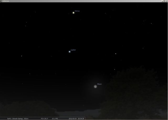 24MAR2012 - Stellarium - Jupiter, Venus, and the crescent moon.