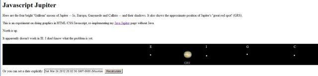 24MAR2012 - Jupiter's Galilean Moons alignment