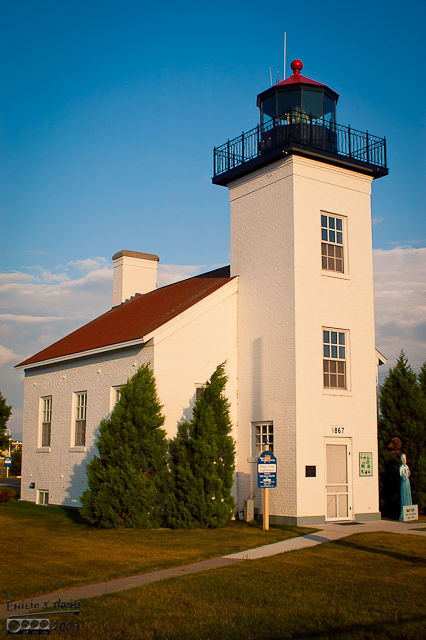 Lake Michigan Sandpoint Lighthouse - Escanaba, MI
