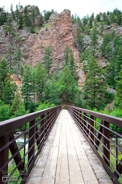 A bridge giving access to hiking and biking trails . . . the weather was not looking too promising, so I just shot a few pictures.