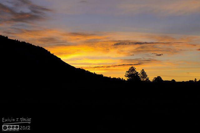 This shot is facing East, with Bald Mountain providing the silhouette from which the sun would make its dramatic entrance.