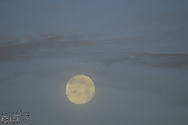 I was hoping there would be a repeat of the moon touching down on the Peak, but it was still way up, and dropping slow.
