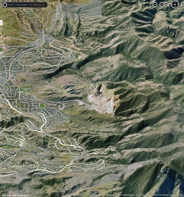 Bing Maps - Mountain Shadow and Peregrine subdivisions