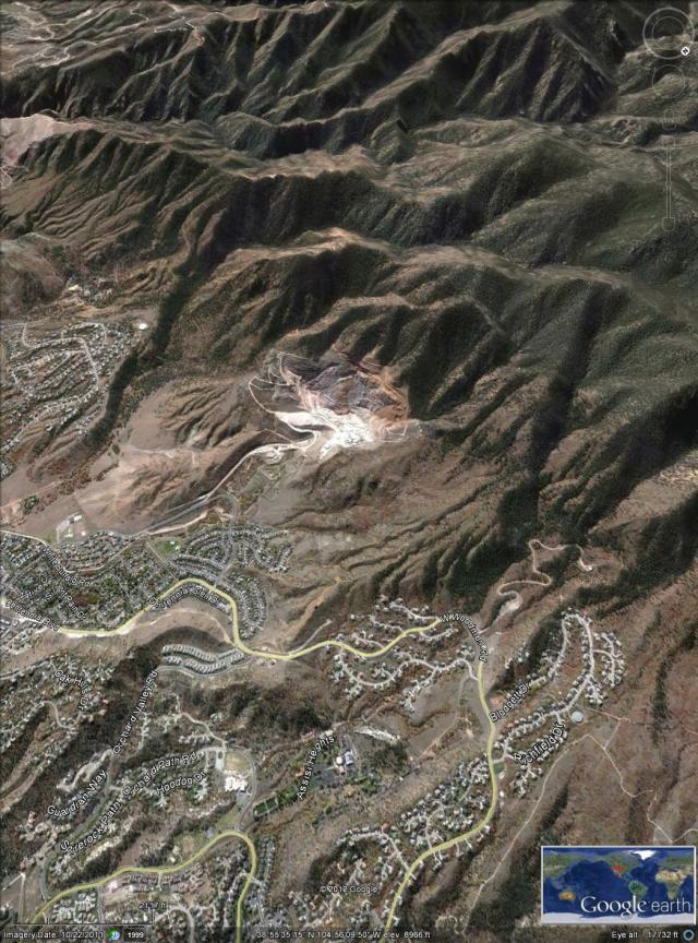Google Earth - Mountain Shadows and Peregrine subdivision aligned approximately as in the photographs.