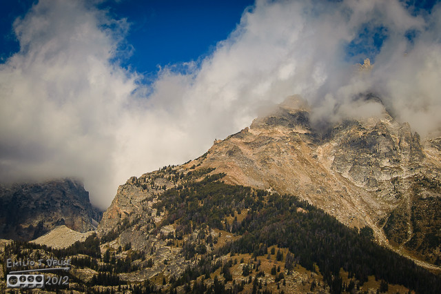 What I shoot to show the interplay of the cloud and the mountain.