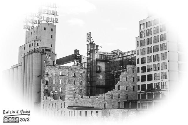 Gold Meadows Flour Factory Museum - B&W