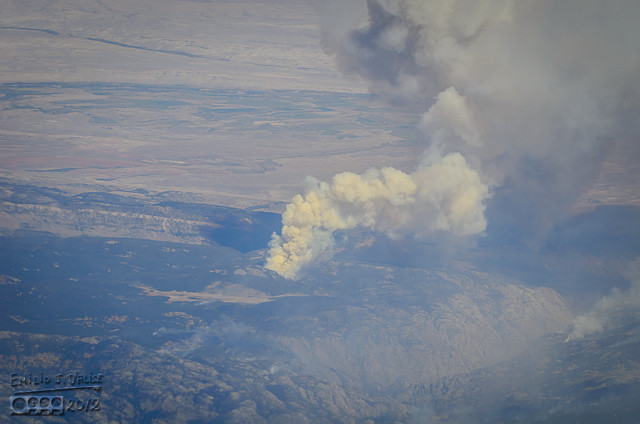 Flying over fires.  Small . . .