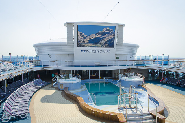 The Outdoor Pool (one of them), and the large outdoor screen.