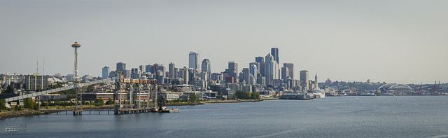 Here is a panorama of Seattle's skyline.
