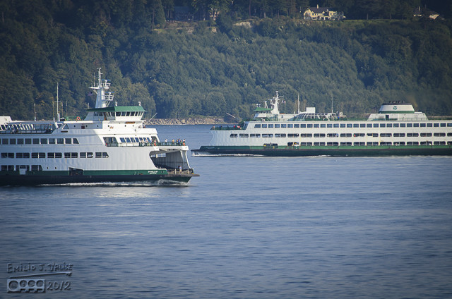 It was interesting watching ships (ferries) cross our wake not that long after we passed.
