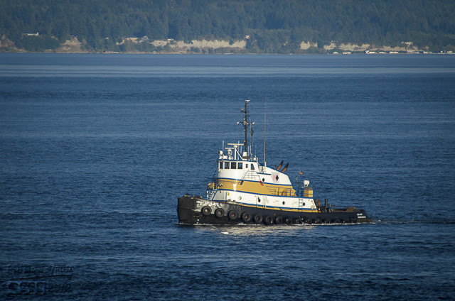 This tug was pulling  . . .