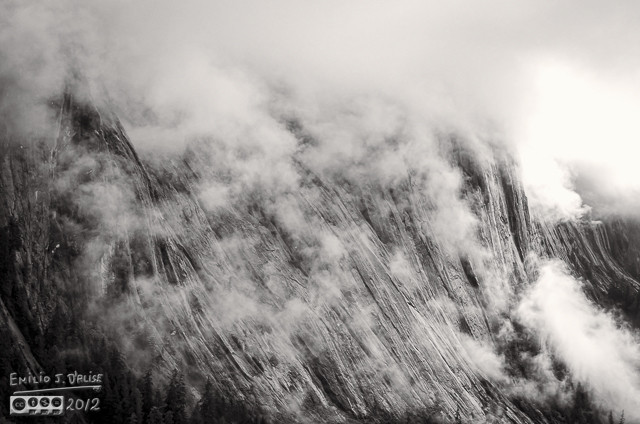 An interesting cliff rendered in B&W