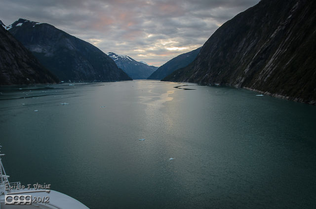 Tracy Arm dawn . . .