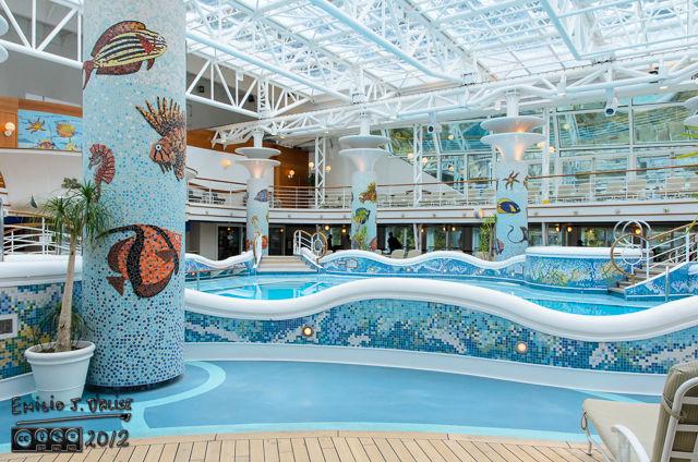 The indoor pool.