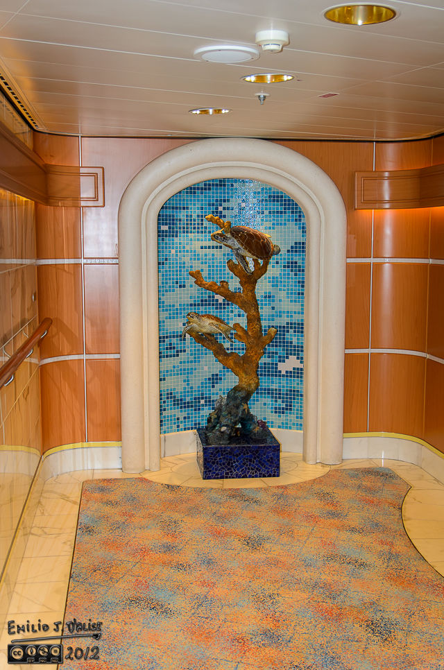 Nearly every alcove of the common areas have some kind of art depicting marine life.