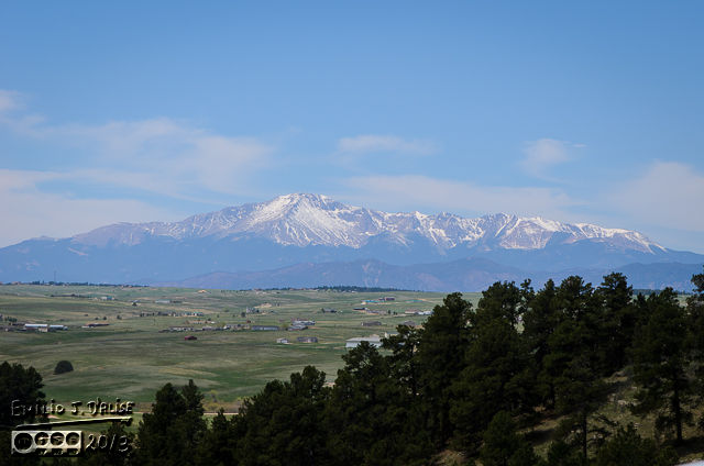 First things first  . . . heck of a view from the parking lot.  One can definitively see how large Pikes Peak looms over the surrounding areas.