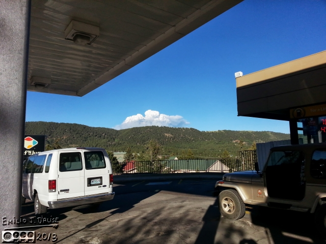 The view from Woodland Park as I was fueling the car